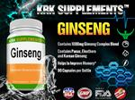 Ginseng 1000mg per serving Panax Ginseng Eleutherococcus Senticosus Extract Korean Ginseng 90 Capsules KRK Supplements