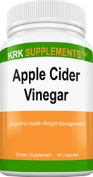 Apple Cider Vinegar 1000mg per serving 90 Capsules KRK Supplements
