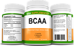 BCAA Branched Chain Amino Acids L-Valine L-Leucine L-Isoleucine 90 Capsules KRK Supplements