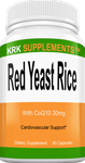 Red Yeast Rice 1200mg per serving With CoQ10 Ubiquinol 30mg per serving 90 Capsules KRK Supplements