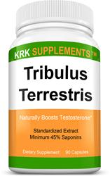 Tribulus Terrestris 1000mg per serving 90 Capsules KRK Supplements