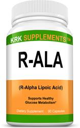 R-ALA R-Alpha Lipoic Acid 200mg 90 Capsules KRK Supplements
