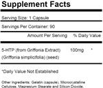 5-HTP 100 100mg Griffonia Simplicifolia Extract Seed 90 Capsules KRK SUPPLEMENTS
