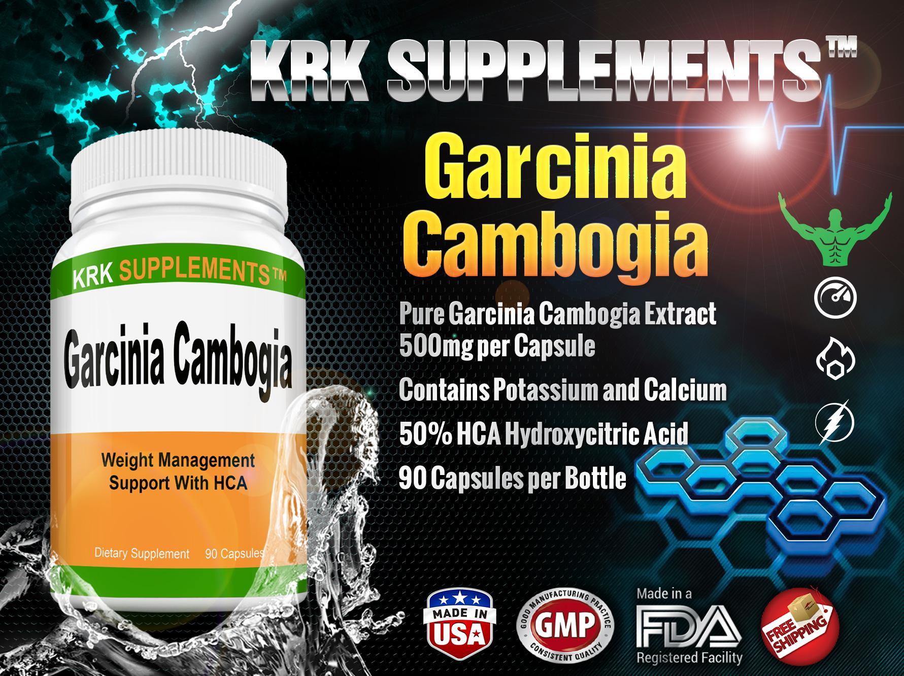 Garcinia Cambogia Extract 500mg 50% HCA Hydroxycitric Acid with