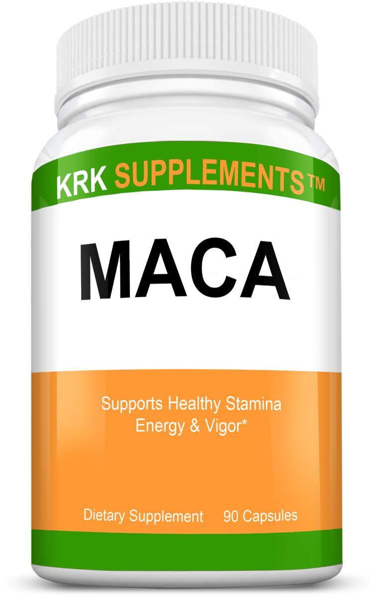 Maca Root (Lepidium meyenii) 500mg 90 Capsules KRK ...